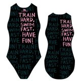 Special Made Turbo Waterpolo badpak TRAIN HARD_