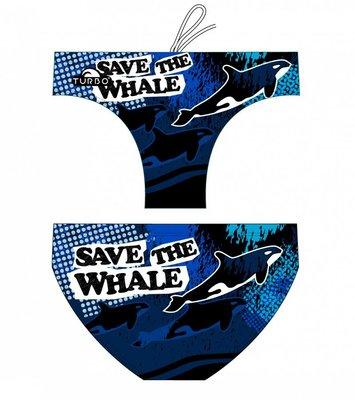 *Special Made* Turbo Waterpolo broek Save The Whale (levertijd 6 tot 8 weken)
