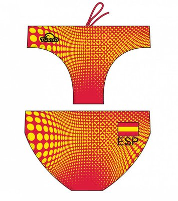 *Special Made* Turbo Waterpolo broek SPAIN 2016 ORANGE (levertijd 6 tot 8 weken)