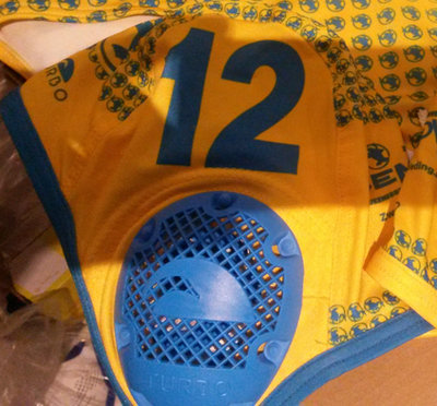 *Outlet* Turbo Waterpolo Cap Kempvis thuis 3
