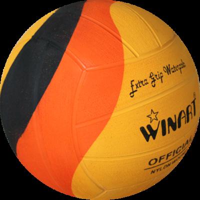 *Voordeelbundel* (10+prijs) Winart waterpolo bal Swirl maat 5 oranje geel zwart