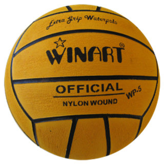 Winart waterpolo bal mini-polo maat 3 geel