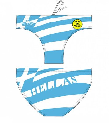 *Outlet* Turbo Waterpolo broek Greece FR100 | D8 | 3XL