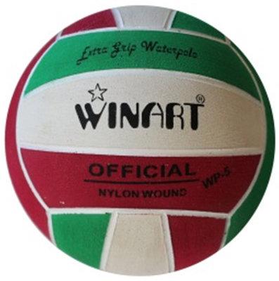 *showmodel* Winart waterpolobal mini-polo maat 3 rood-wit-groen op=op
