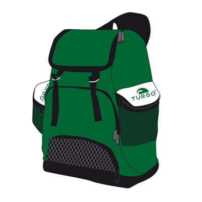 *showmodel* Turbo Waterpolo Luxe Rugzak Draco Green 30L op=op