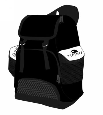 Turbo Waterpolo Luxe Rugzak Draco Black 30L