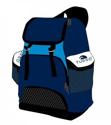 Turbo Waterpolo Luxe Rugzak Draco Blue 30L