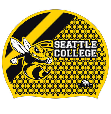 Opruiming *showmodel* Turbo silicone badmuts  Seattle College op=op