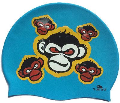 Opruiming *showmodel* Turbo silicone badmuts Monkey Happy op=op