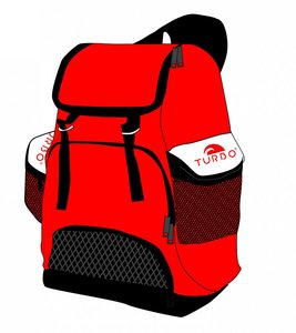 Turbo Waterpolo Luxe Rugzak Draco Red 30L