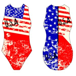 Special Made Turbo Waterpolo badpak USA VINTAGE